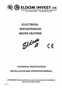 ELDOM Beta manual