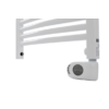 Radiator electric portprosop Deltacalor Recto C Mix 500 Watti,- incalzire centrala  (alb)