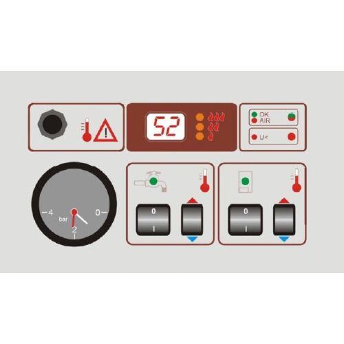 Controlul centralei electric Termostroj  cu modul de apa calda menajera si cu compensare a temperaturii externe